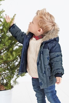 Star Print Padded Jacket (3mths-7yrs)