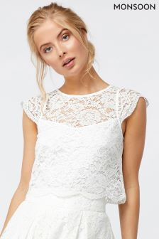 Monsoon Ivory Delilah Lace Top