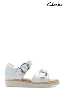 Clarks White Crown Bloom T Sandal