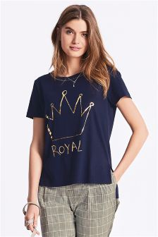 Royal Slogan Tee