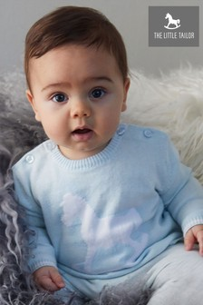 The Little Tailor Blue Baby Knitted Jumper