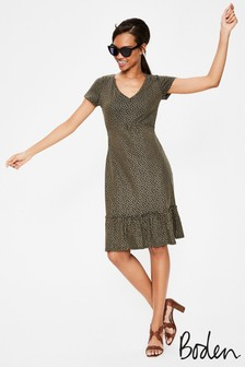 Boden Green Melissa Jersey Dress