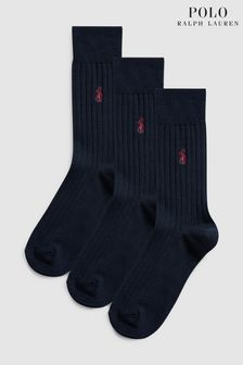 Tri páry ponožiek z egyptskej bavlny Polo Ralph Lauren®