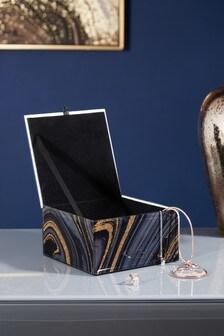 Marble Effect Jewellery Box