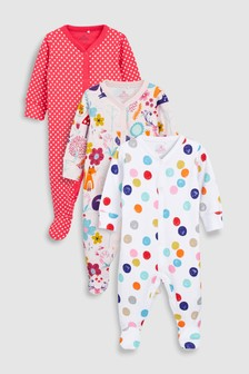 Animal Spot Sleepsuits Three Pack (0mths-2yrs)