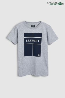 Lacoste® Sport Silver Chine Court Tee