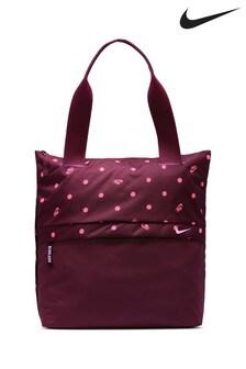 Nike Burgundy Spot Print Radiate Tote Bag