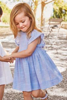 שמלה עם סלסולים (3 חודשים-6 שנים)