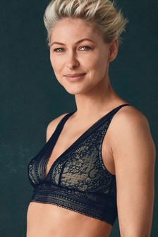 Emma Willis Longline Lace Bralette