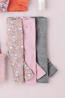 內搭褲三件組 (3個月至6歲)