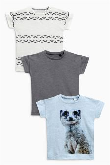Short Sleeve Meerkat T-Shirts Three Pack (3mths-6yrs)