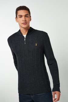 Cable Zip Neck