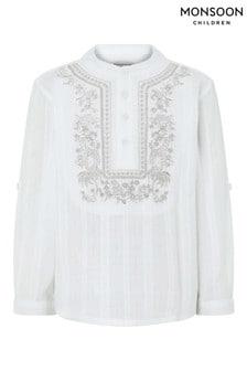 Monsoon Ivory Kabir Kurta Shirt