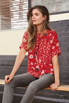 Boxy Floral Top