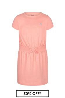Ralph Lauren Kids Girls Pink Cotton Dress