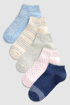 Stripe Trainer Socks 5 Pack