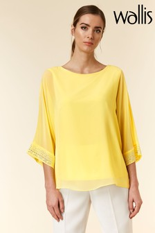 Wallis Yellow Hotfix Overlayer Top