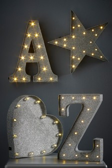 Glitter Monogram Feature Light