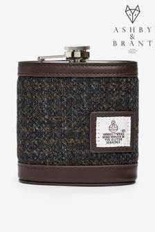 Hip Flask Made From Harris Tweed Fabric