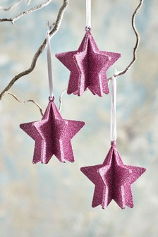 Set of 3 Star Baubles