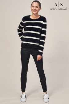 Armani Exchange Black Coat Jean