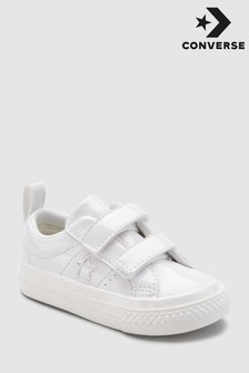 Converse White Patent One Star Trainer