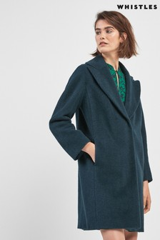 Whistles Jara Drawn Cocoon Coat