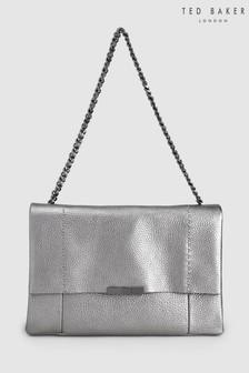 Ted Baker Glayya Gunmetal Soft Grain Shoulder Bag