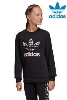 adidas Originals Black Animal Logo Sweatshirt