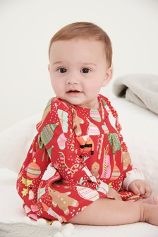 Christmas Print Dress (0mths-2yrs)