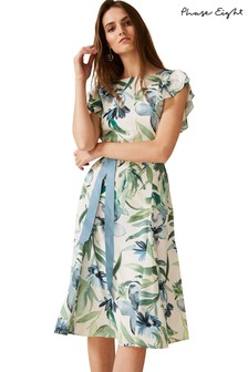 Phase Eight Natural Carlotta Floral Dress