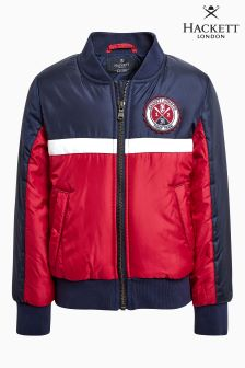 Hackett Navy/Red Sport Bomber Jacket