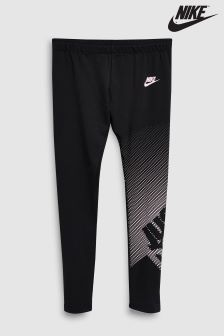 Nike Black/Pink Logo Legging