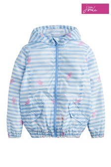 Joules Blue Golightly Short Length Rain Jacket