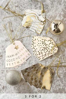20 Pack Gold Christmas Gift Tags