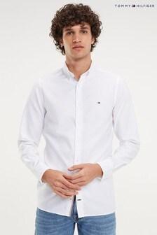 Tommy Hilfiger White Slim Essential Dobby Shirt