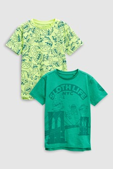 Sloth T-Shirts Two Pack (3-16yrs)