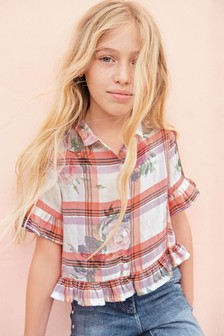 Cropped Frill Shirt (3-16yrs)