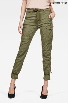 G-Star Green Blossite High Rise Straight Fit Cargo Trouser