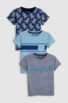Short Sleeve Dino T-Shirts Three Pack (3mths-6yrs)