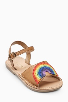 Rainbow Peep Toe Sandals (Younger)