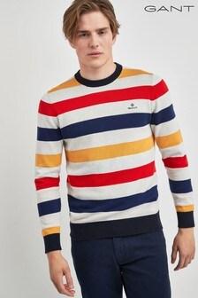 GANT Mens Multicoloured Stripe Knit Sweater