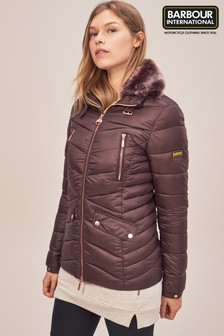 Barbour® International Autocross Cocoa Quilted Jacket