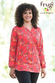 Frugi Organic Maternity Red Floral Blouse