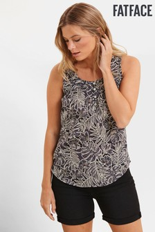 FatFace Grey Cassie Linear Leaves Cami