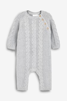 6d051da54e8d Cable Knit Romper (0mths-2yrs)