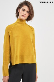 748f39061c6 Whistles Yellow Funnel Neck Sweater
