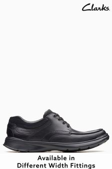 Clarks Wide Fit Black Cotrell Edge Shoe