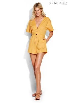 Seafolly Gold Button Up Playsuit
