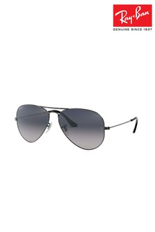 Ray-Ban® Black Large Aviator Sunglasses